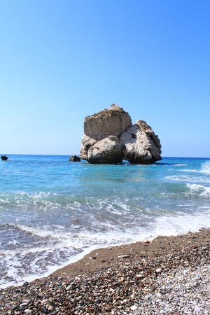 tou: One of rock on Petra tou Romiou, Paphos, Cyprus (Aphrodite