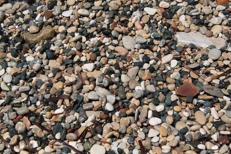 Small pebbles on a beach photo