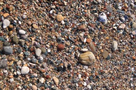Small pebbles on a beach