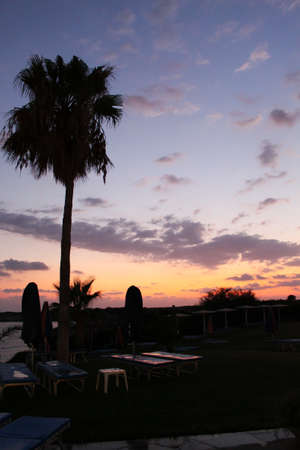 Sunset. An evening landscape. Cyprus photo