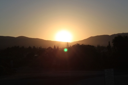 Sunrise. A mountain landscape. Cyprus photo