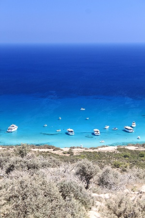 Blue Lagoon en Akamas reserva. Chipre
