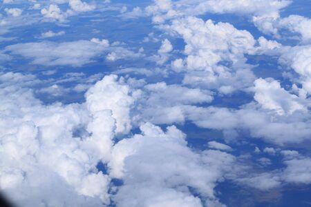Vuelo por el plano. Cumulus nubes