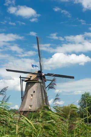 watermanagement: A windmill near Kinderdijk in the Netherlands.