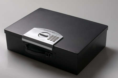 safety box: laptop safe for in a car, boat, trailer, hotel Stock Photo
