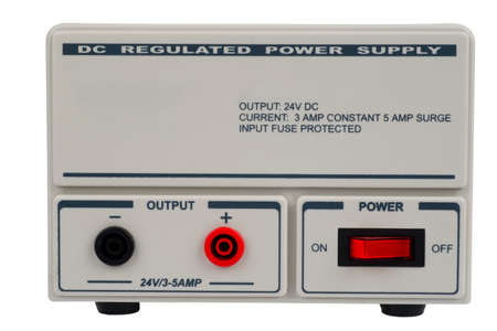 Regulated DC power supply for use in a electronic laboratory