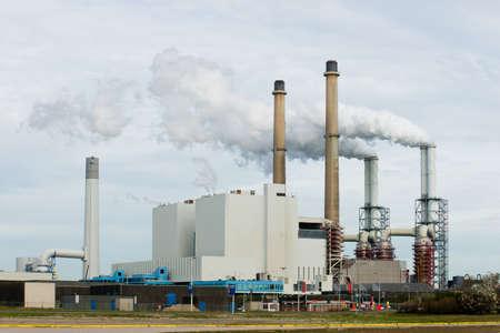 Een centrale voor de productie van elektriciteit Stockfoto
