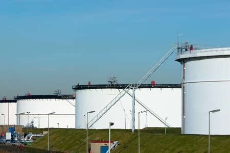 A site with storage capacity for crude oil and petrol
