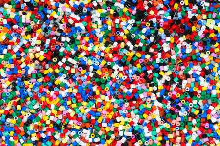 plastic granules  or plastic beats for children to play with