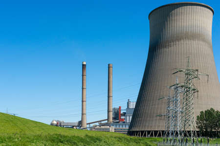 A power plant for the production of electricity Stock Photo - 13797321