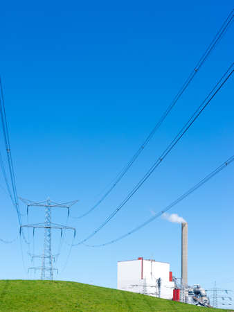 A power plant for the production of electricity Stock Photo - 13797297