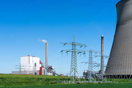 electric utility: A power plant for the production of electricity