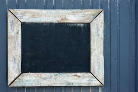 Kopieer de ruimte op een vintage schoolbord om uw eigen tekst te schrijven Stockfoto