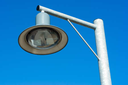 halogen lighting: street lantern with a modern design Stock Photo