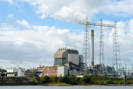 contamination: A power plant for the production of electricity