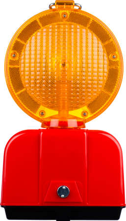 a warning light to secure a building site on a white background Stock Photo - 16351725