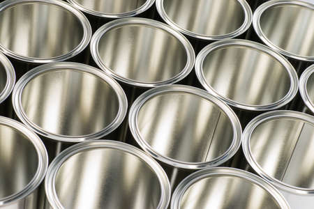 rows of cans to store paint and varnish Stock Photo - 16555447