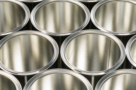 rows of cans to store paint and varnish Stock Photo - 16567877