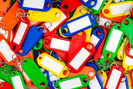 plastic key tags with multiple colors Stock Photo - 16601392