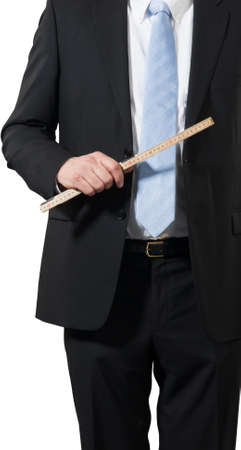 businessman ready to measure the business to spot opportunities Stock Photo - 16692997