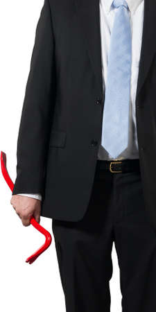 businessman ready to take the business  apart or a criminal to rob the bank Stock Photo - 16692992