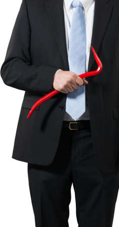 businessman ready to take the business  apart or a criminal to rob the bank Stock Photo - 16692998