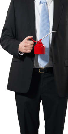 businessman ready togrease up his business Stock Photo - 16692993