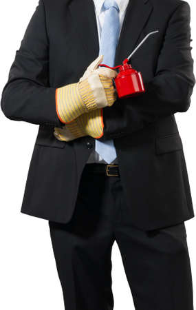 businessman ready togrease up his business Stock Photo - 16693012