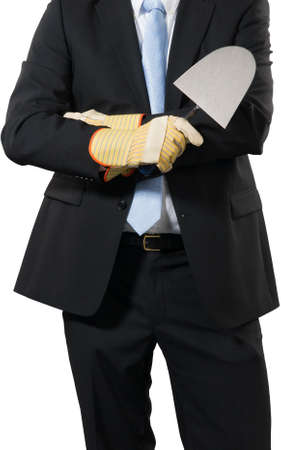 businessman ready to build some new business Stock Photo - 16693003
