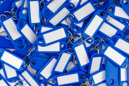 blue colored key rings Stock Photo - 16847725