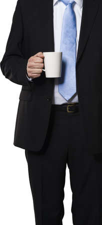 Executive holding a mug to show its time for a little break Stock Photo - 16928126