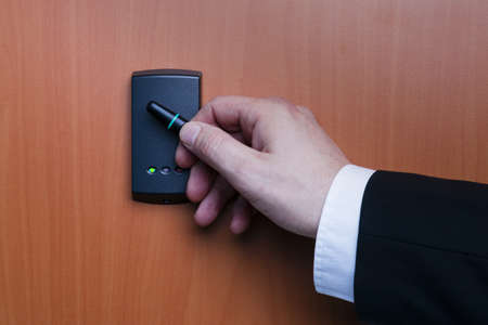 electronic key system to lock and unlock doors Stock Photo - 17629401