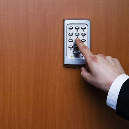 electronic key system to lock and unlock doors Stock Photo - 17629399