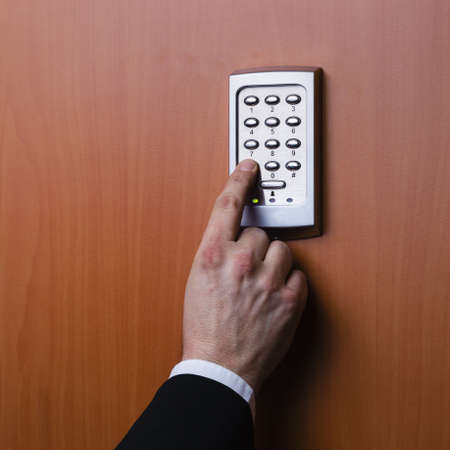 electronic key system to lock and unlock doors Stock Photo - 17629397