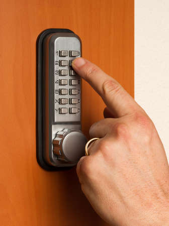 touchpanel to activate the door lock Banque d'images