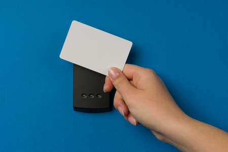 elektronische sleutel systeem te vergrendelen en ontgrendelen deuren Stockfoto