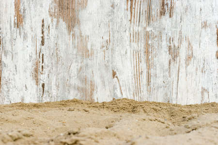weathered wood on the beach