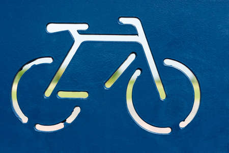 a sign placed on a site for parking your bike Stock Photo