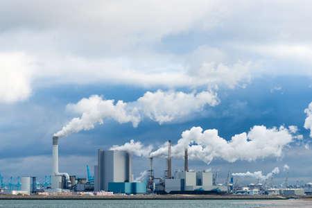 powerplants: Powerplants in a large industrial harbor