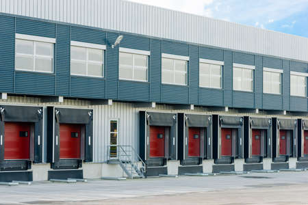 warehouse and docking ports for trucks and trailers