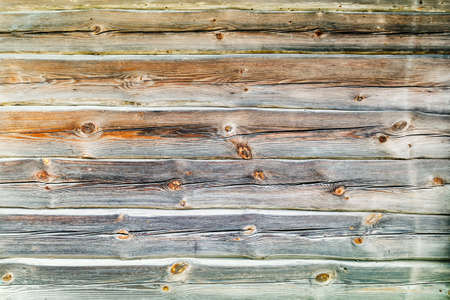 trimmed pine wood log wall house background