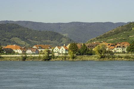 Landschaftsaufnahme von Loiben in der Wachau als HDR-Foto ausgearbeitet Stock Photo