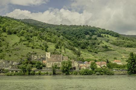 als: Landschaftsaufnahme von St. Michael in der Wachau als HDR-Foto ausgearbeitet Stock Photo