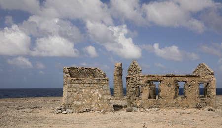 Abandoned lighthouse at Malmok, Bonaire (netherlands antilles) Stock Photo