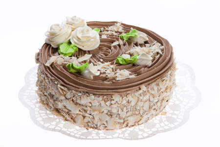 chocolaty: Cake on isolated white background