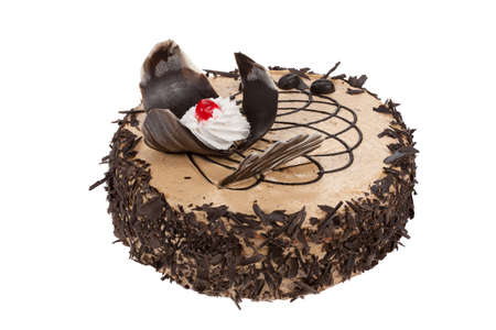 bisquit: Cake on isolated background