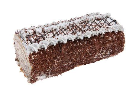 chocolaty: Cake on isolated white background
