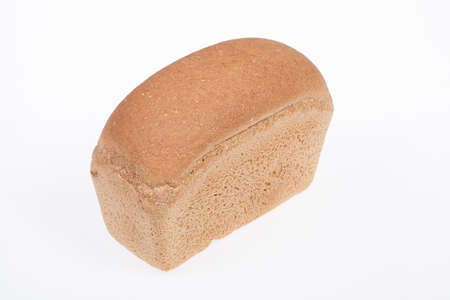 life loaf: Loaf of bread on isolated white background Stock Photo
