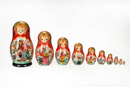 Traditional Russian folk dolls called