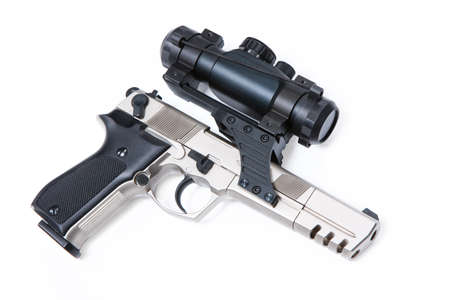 airgun: Gun with optical device Stock Photo